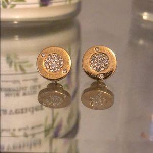 Michael Kors gold & pavé diamond earrings